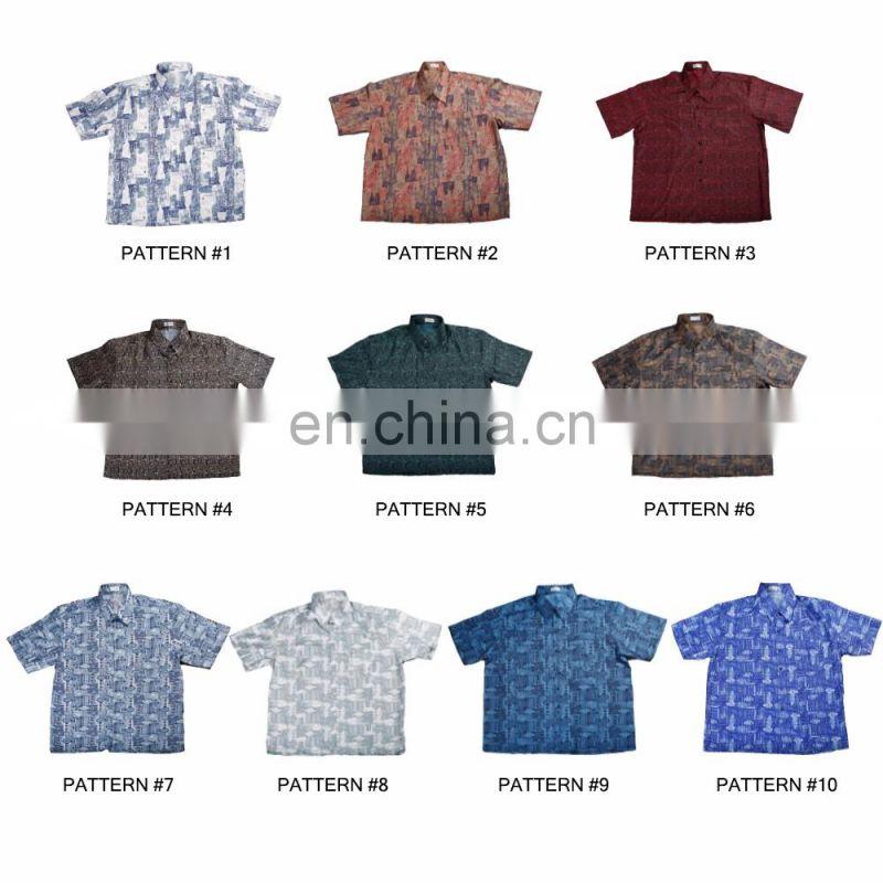 Mens Thai Silk Patterned Casual Shirts Long Sleeve Vintage Hawaiian S-3 XL New