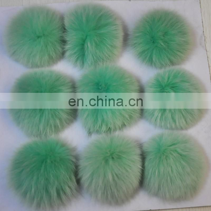 Custom size fox fur pompon for phone accessory/garment/hat
