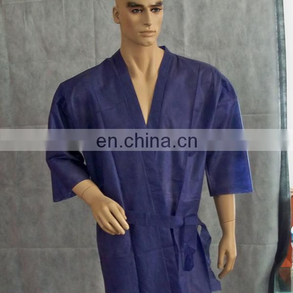 Disposable SPA Clothes/ Beauty Nonwoven Coat/ Kimono pp Robe