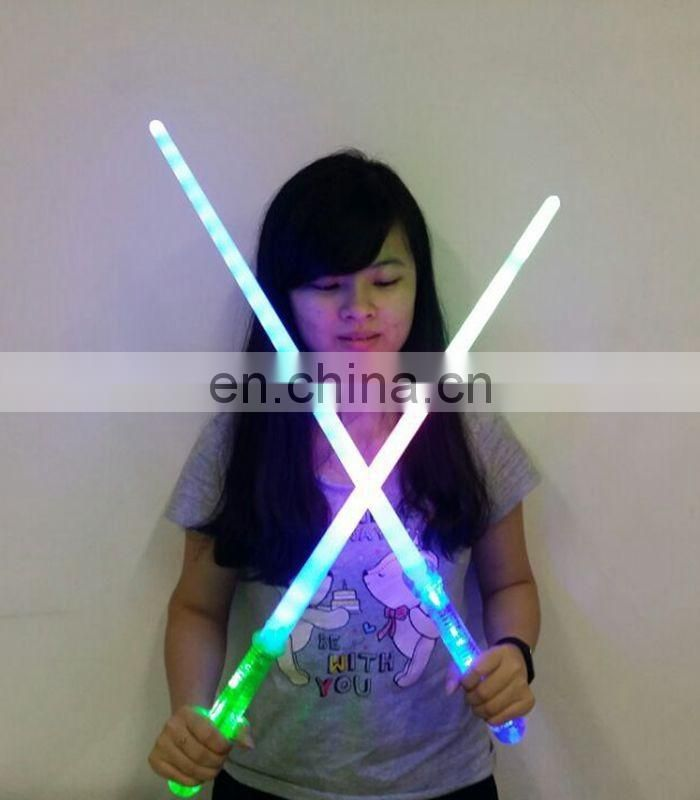 Hot selling multicolor led flashing stick for Christmas gift toy supplies and concert decoration