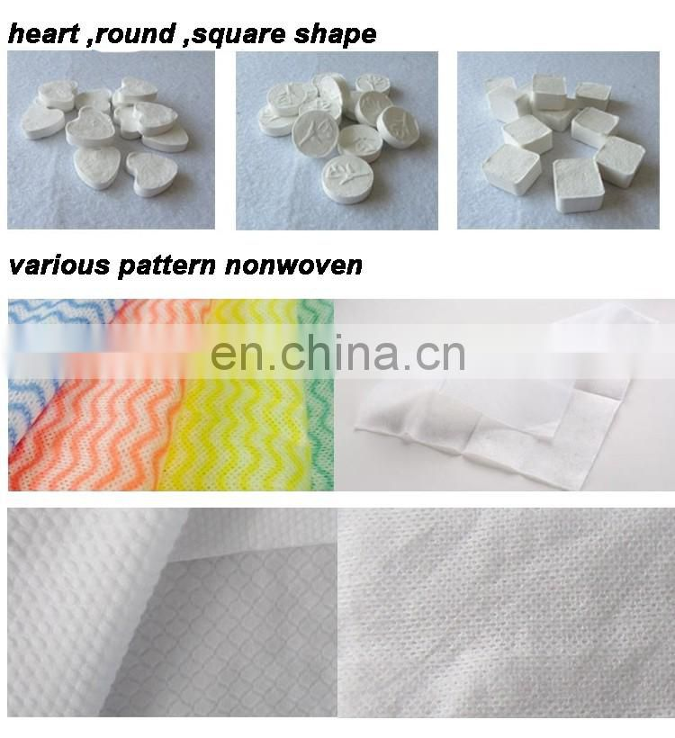 The cheap and high quality compressed magic coin tablet tissue towel