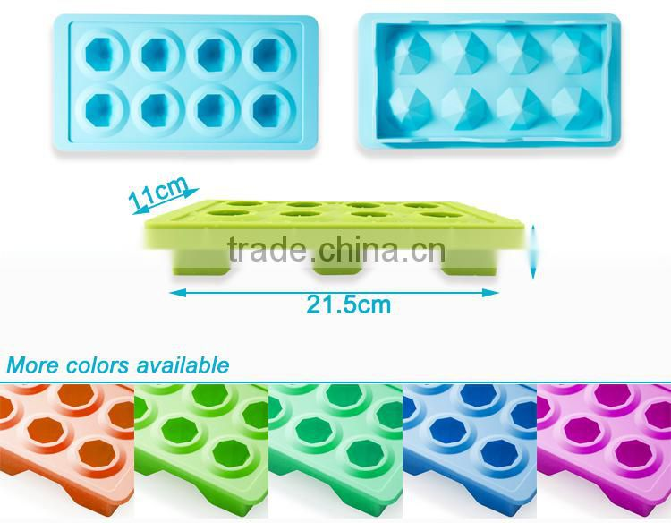 Alibaba Hot Sell Personalized Diamond Shaped Silicone Ice Mould