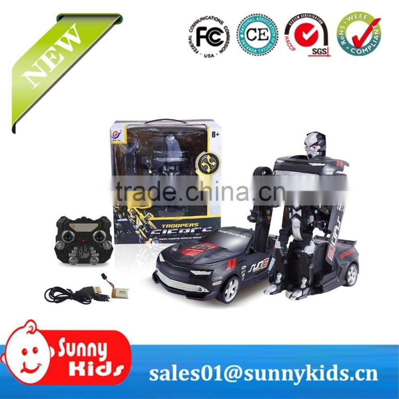 4 Channel Car Transform Robot RC Toy Car With Light for children