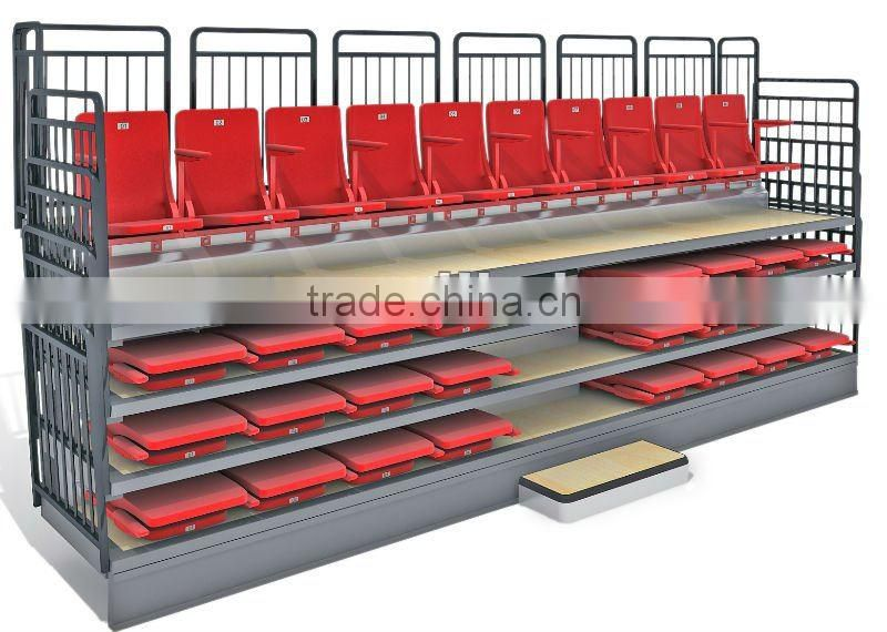 Retractable Seating telescopic chair system tribune bleachers