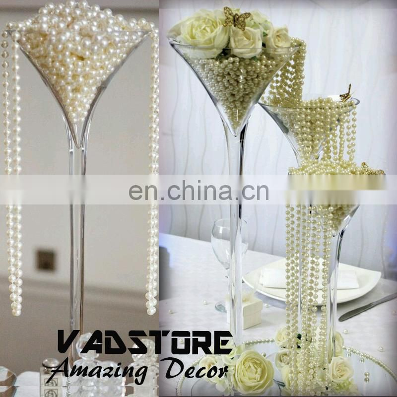 plastic ivory beads strand table centerpiece wedding pearl beads centerpiece