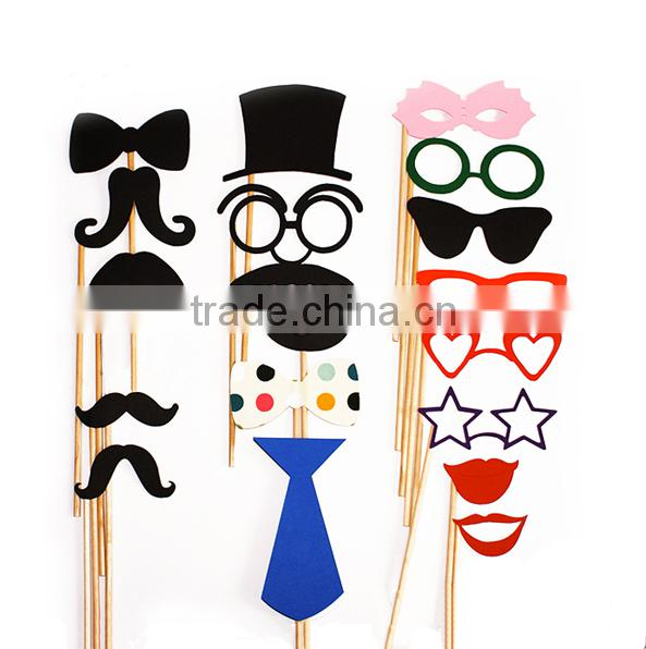 colorful Kids Party Photo Booth Props with stickers