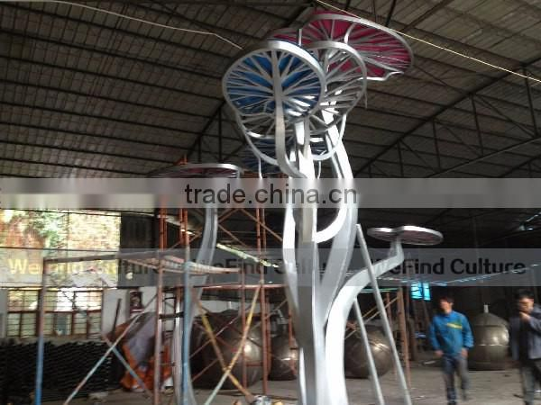 Large Metal Tree Abstract Sculpture for Park Architecture