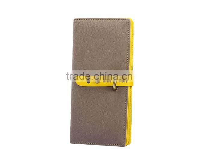 PU leather long women wallet