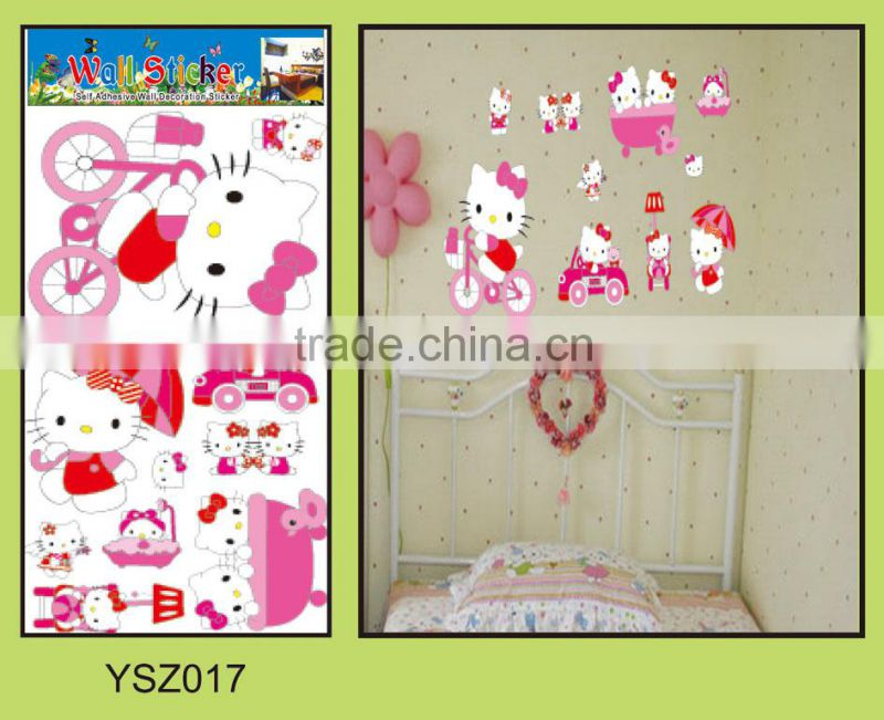 best printing high-quality fashionable cute animal vinyl wall home decal stickers diy product