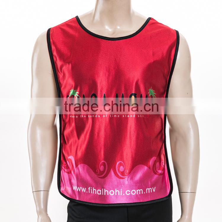 Sublimation Reflective Soccer & Football Training Vest Bibs