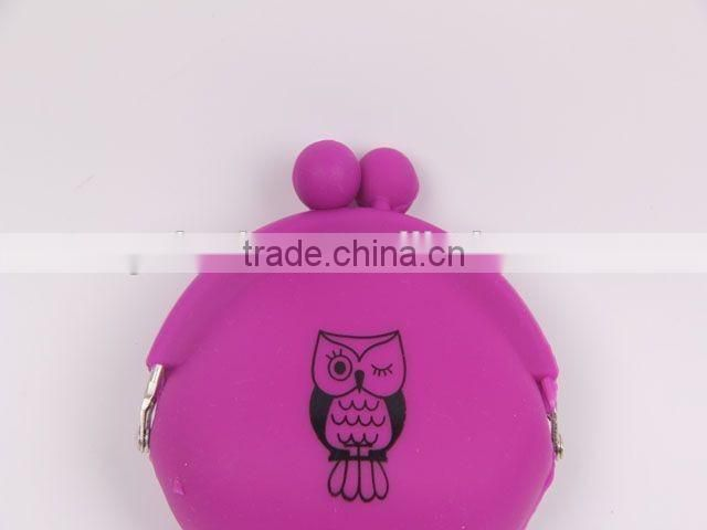 Owl pattern Silicone Purse /Coin Purse