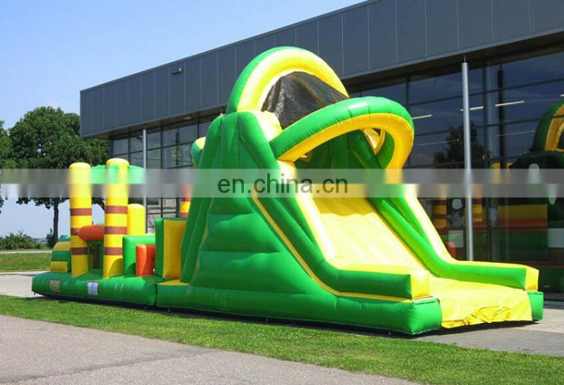 inflatable obstacle run beach and slide into your pool
