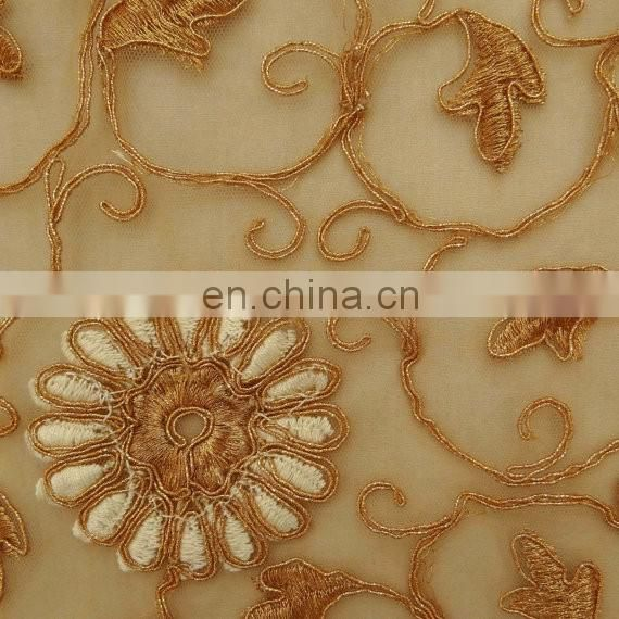 Embroidered Fabric Indian Net Fabric