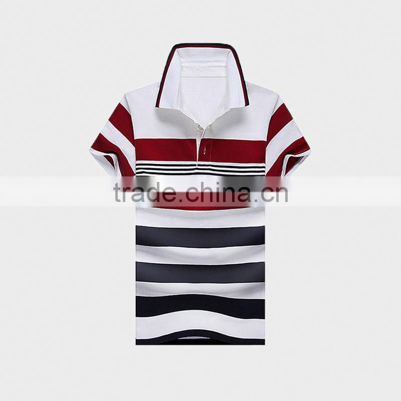 2015 Men's Polo Shirt With Stipe