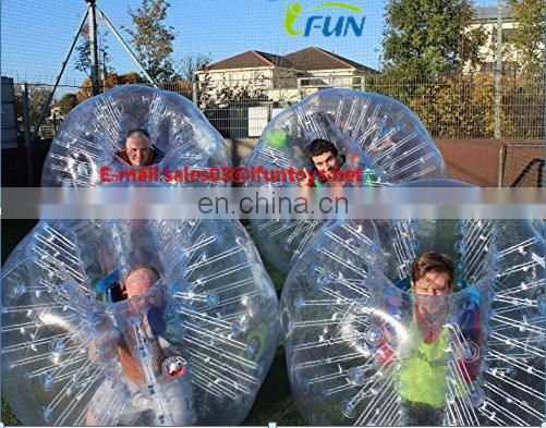 Inflatable human sized soccer bubble ball/Inflatable Human Zorb Ball Bumper/ TOP Quality bumper knocker ball for adult