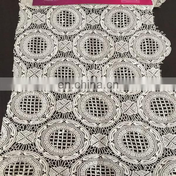 wholesale chemical lace fabric in milky yarn