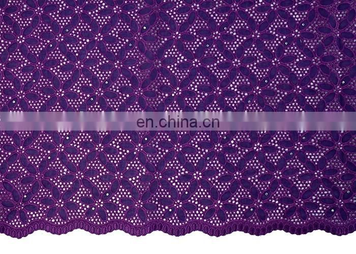 2017 New arrivel african stone cotton lace fabrics for elegant wowen party
