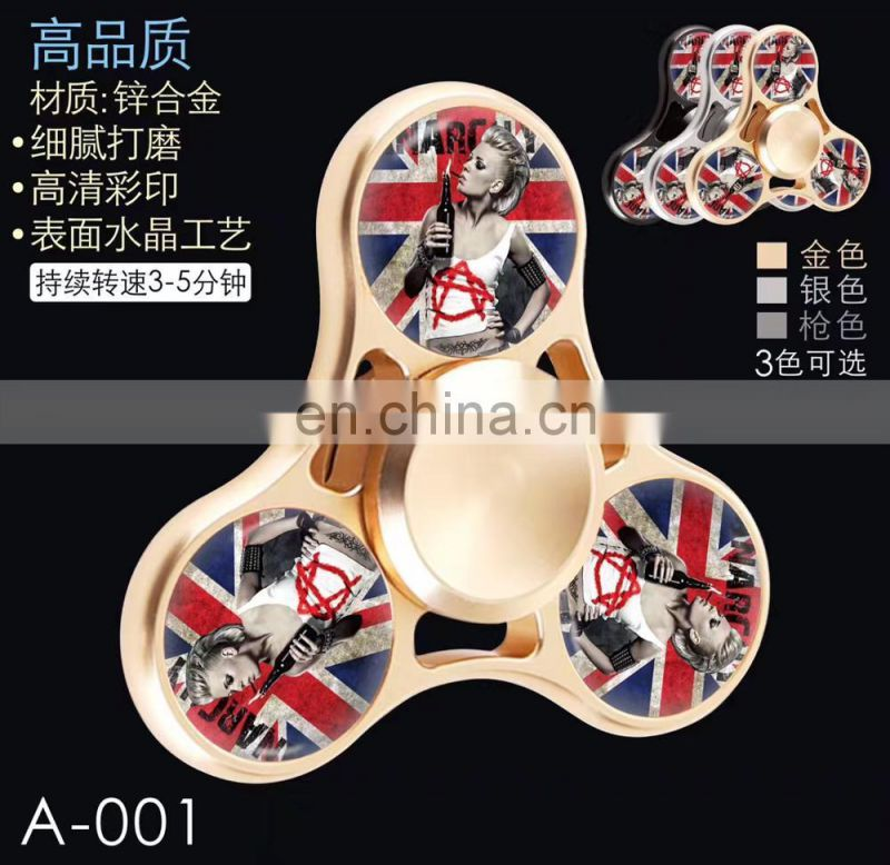 Factory large inventory rotate 608 metal bearing hand spinner toys