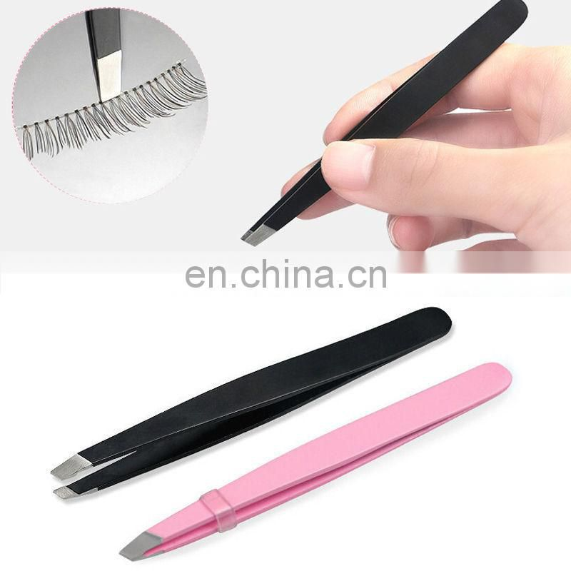 5X Silver Stainless Steel Eyebrow Hair Removal Tweezers Clip Makeup Beauty Tool