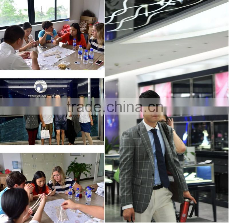 9-10mm high luster peacock black tahitian pearl white gold necklace