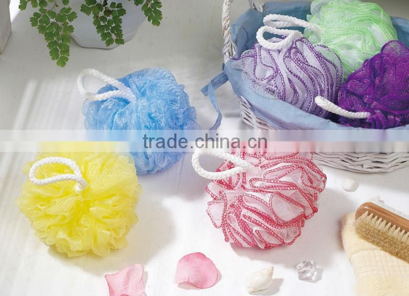 colorful bath ball , bath sponge flower-shower puff