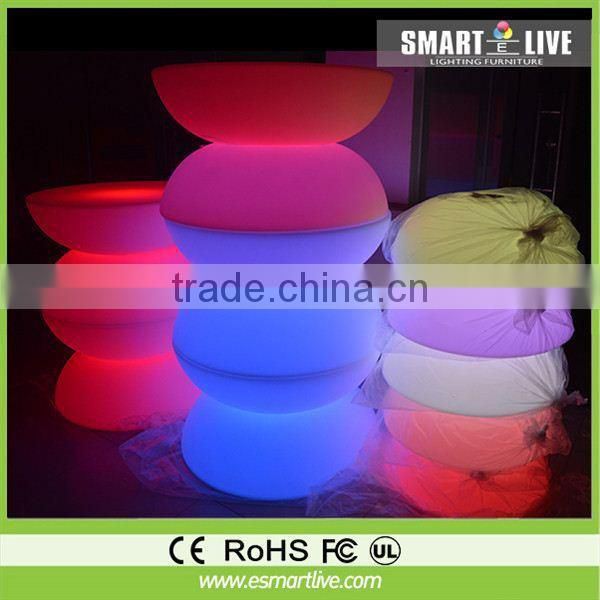 Colorful event party rental led bar sofa chair Led bar stool chair