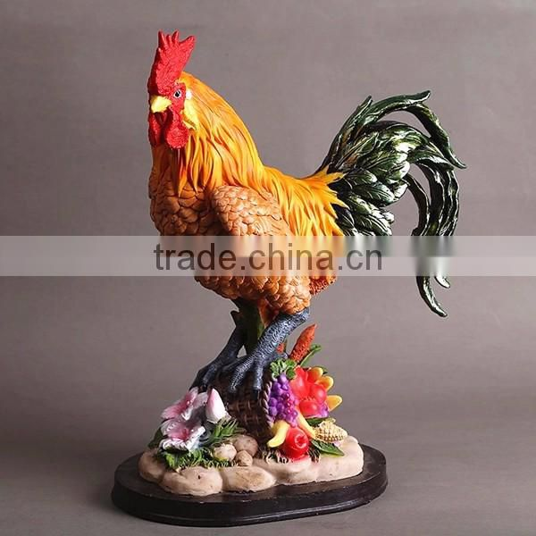 Yard art custom garden sculptures animal rooster statue
