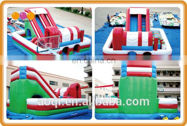AOQI giant commercial wholesale funcity /cheap inflatable fun city