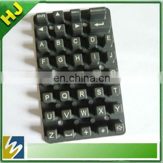 transparent silicone keypad with conductive pill