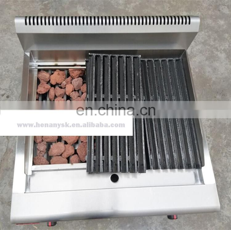 Stainless Steel Counter Top Gas Lava Rock Grill
