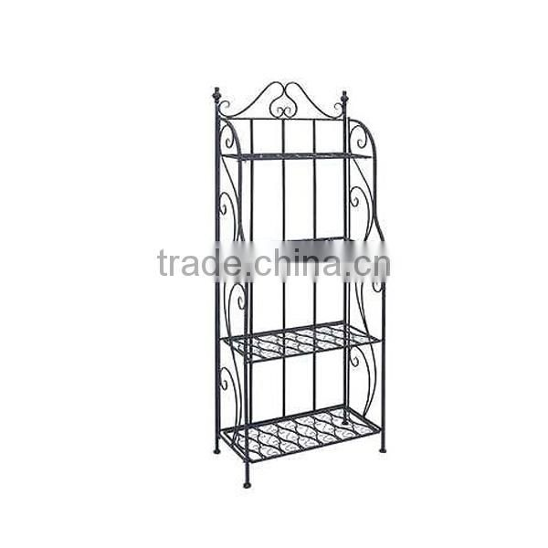 Powder Coated Black 4 tier metal display Stand