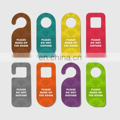 Customized advertising do not disturb door hanger