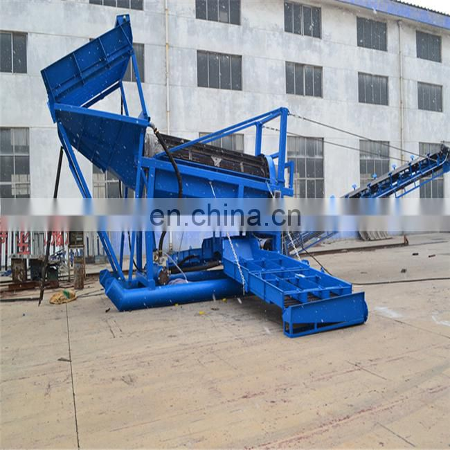 mobile gold trommel washing plant	trommel conveyor new machine for gold mining business