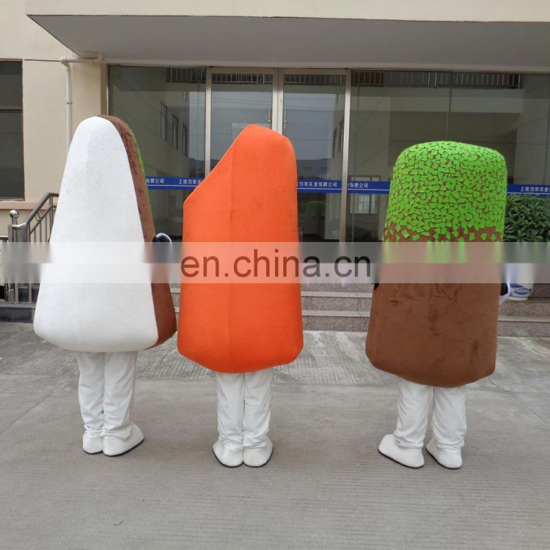 Factory direct sale customized ice cream mascot costumes for adult