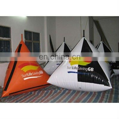 inflatable buoys,cylinder shape for water triathlons advertising