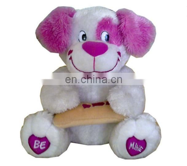Plush dog toy with bone china toy factory chinese toy manufacturers Umay-V0018