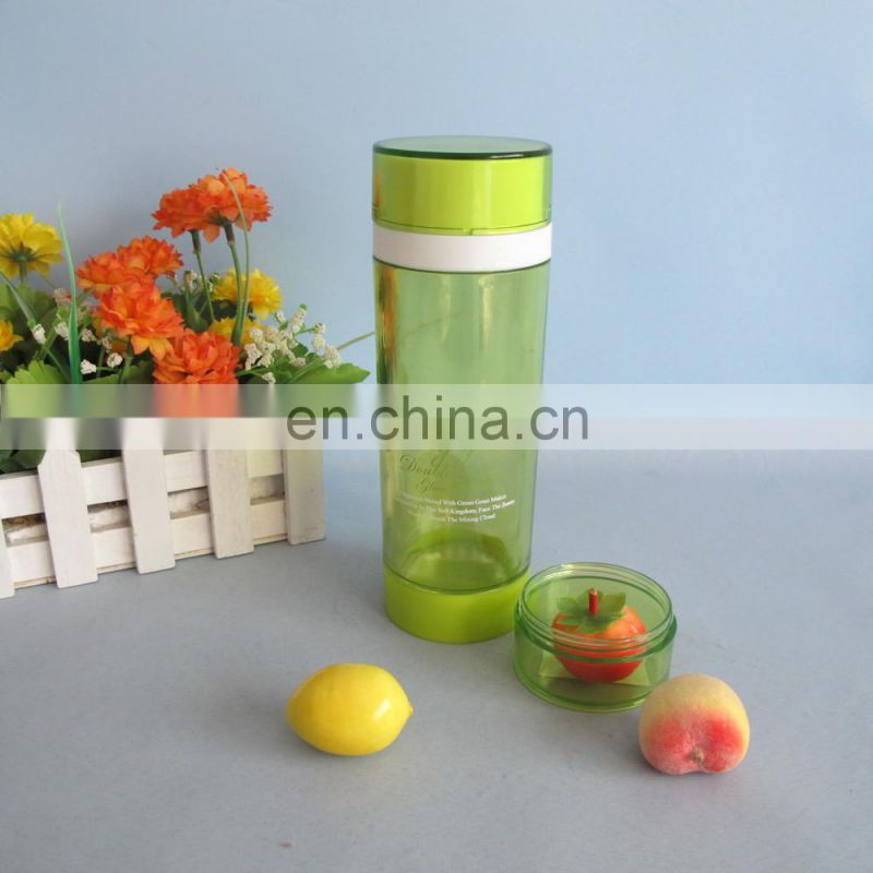 2014 good quality glass water bottle with infuser 300ml
