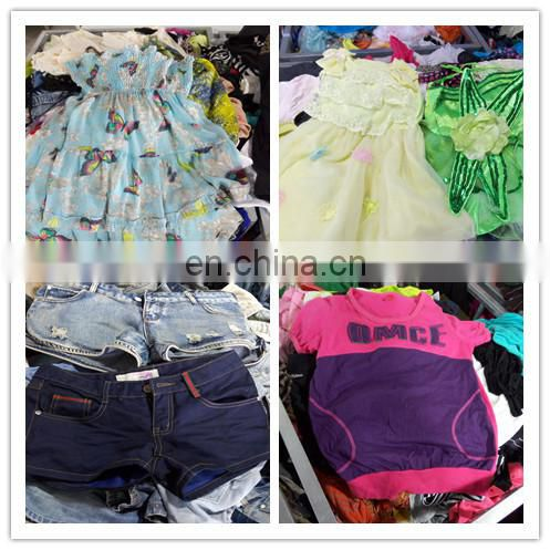 second hand kids clothing bulk used clothing 100% silk/cotton girl dresses