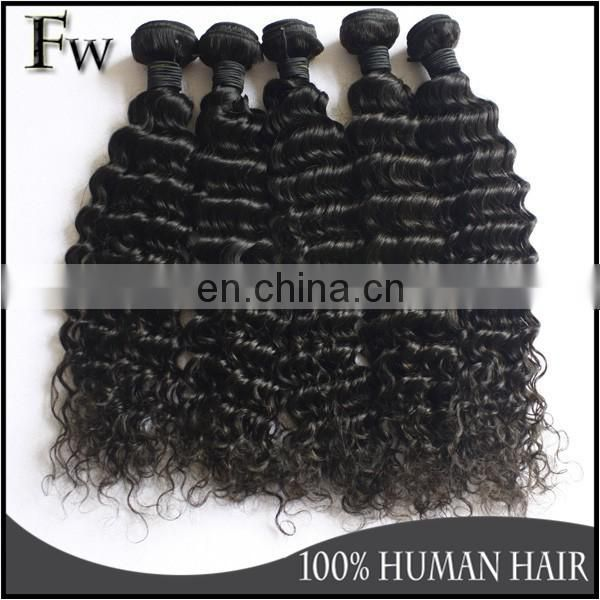 Deep wave virgin brazilian hair 3 bundles virgin human hair extensions brazilian weave hair