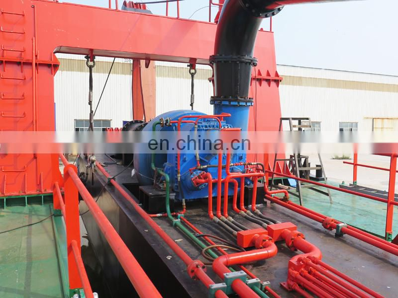 Robust hydraulic cutter suction sand dredging boat with underwater pump