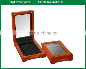 2015 custom personalized military wooden coin money medal box with lid