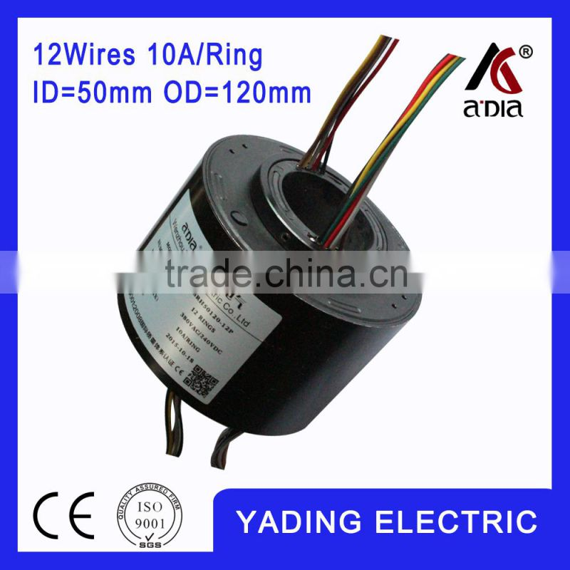 SRH 50120- 12p Through hole slip ring ID50mm. OD.120mm. 12Wires, 10A 12wires