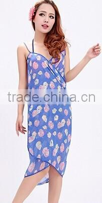 lady summer beach wear, polyester women sarong pareo