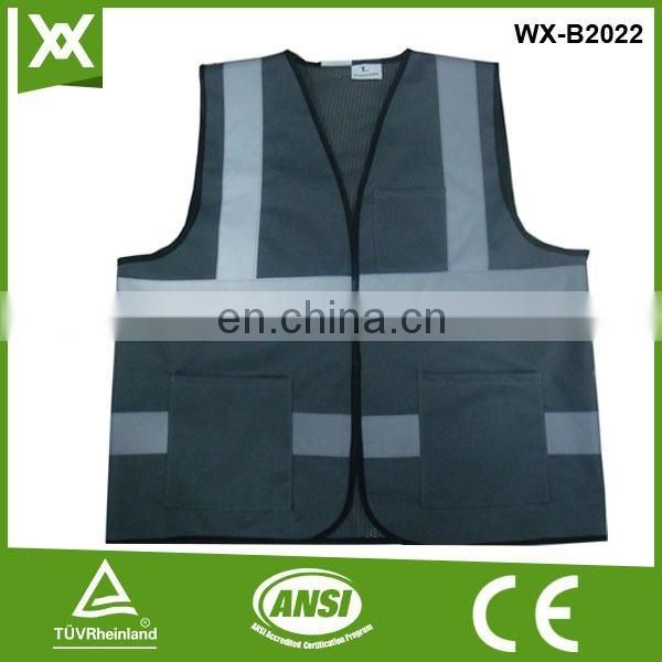 factory produce stripes reflective pocket CE EN20471471 safety refelctive pockets work vest
