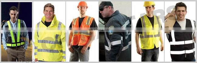 blue stretch waterproof safety vest with heat applied film, nathan reflective vest for sports men