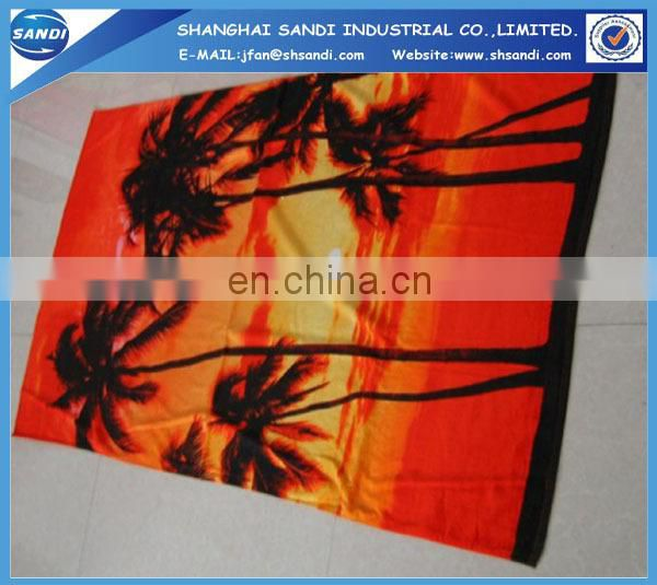 Factory made 100% cotton high quaity custom printed beach towel