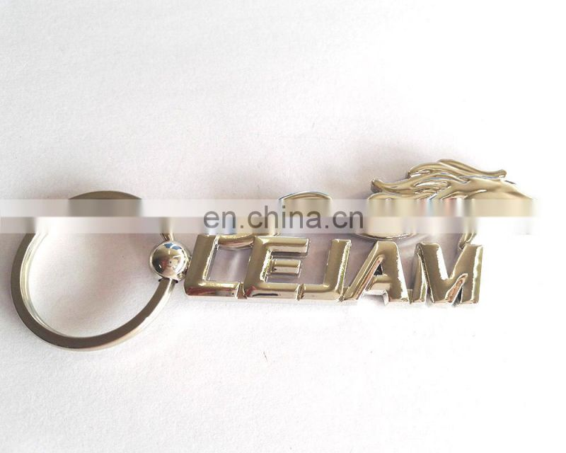 Running Horse High Silver Polished Zinc Alloy Keyring Mens Key Holder
