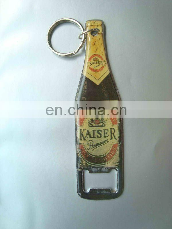 engraved bottle shape pop top bottle opener