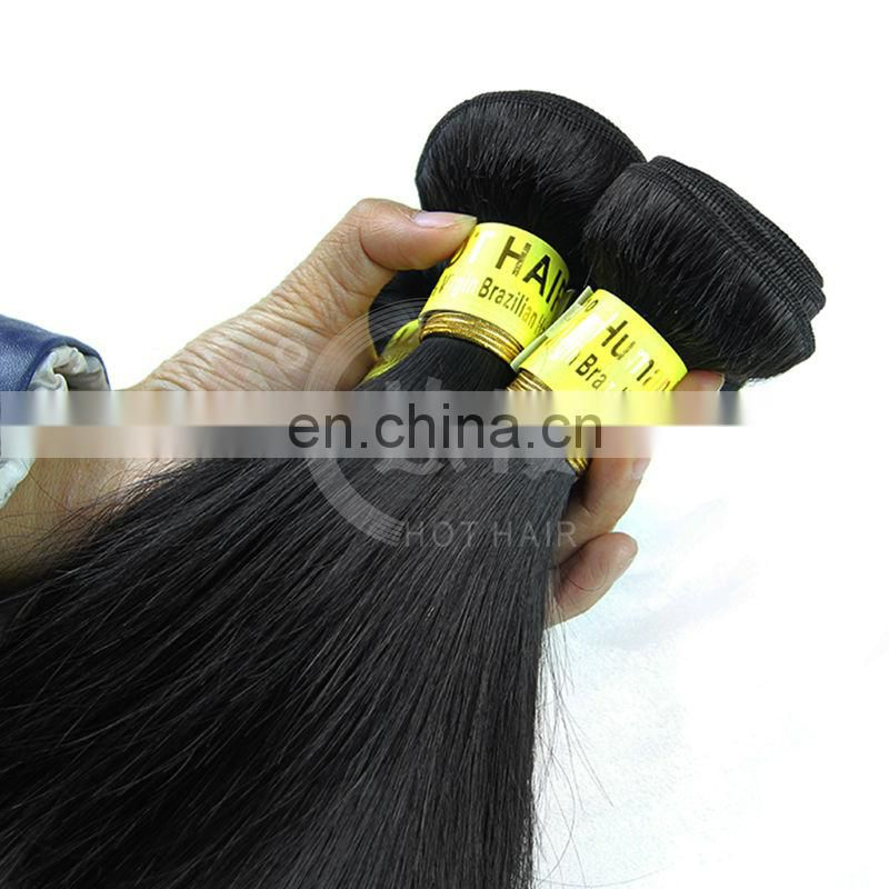 Wholesale 5A 100% virgin brazilain straight remy hair extensions