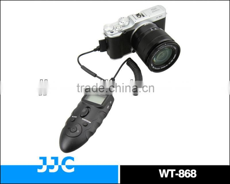 JJC Dual LCD Display WT-868 2.4G versatile wireless timer remote controller & wired remote switch For Nikon MC-36 D800 camera